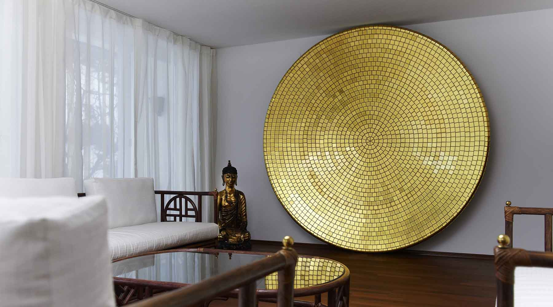 Gold in Glass disc-office